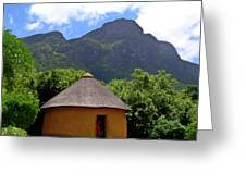 African Hut South Africa Greeting Card