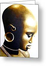 African Lady - Original Artwork Greeting Card