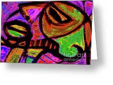 African Mask II Greeting Card by Robert Daniels