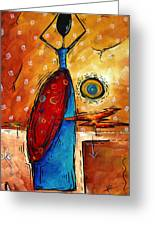 African Queen Original Madart Painting Greeting Card