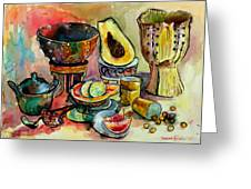 African Still Life Greeting Card