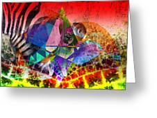 African Story In Three Time Travels Greeting Card