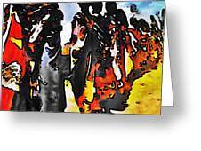 African Tribal Stand Greeting Card
