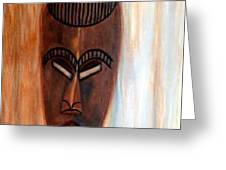 African Warrior Greeting Card by Donna Proctor