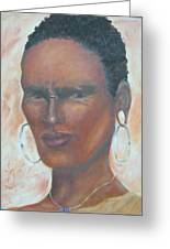 African Warrior Greeting Card