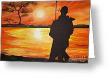 African Watchman Greeting Card