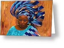 African Woman 5 Greeting Card