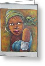African Woman Portrait- African Paintings Greeting Card
