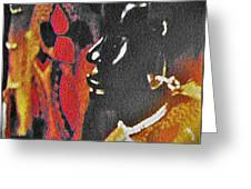 African Woman Statue Greeting Card
