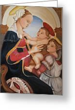 after Botticelli Madonna con il Bambino e un Angelo Greeting Card