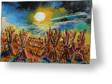 After Harvest Night Greeting Card