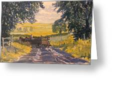 After Rain On The Wolds Way Greeting Card