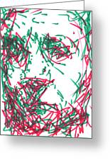 After Rembrandt - Self Portrait Greeting Card