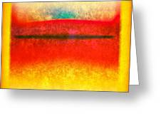 After Rothko 8 Greeting Card