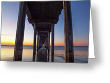After Sunset At Scripps Pier Greeting Card