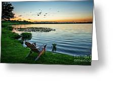 After Sunset Greeting Card