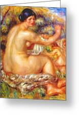 After The Bath 1912 Greeting Card