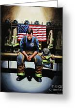 After The Fire Greeting Card
