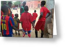After The Game - Goree Boys Greeting Card
