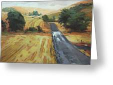 After The Harvest Rain Greeting Card