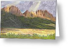 After The Monsoon Organ Mountains Greeting Card