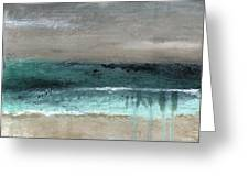 After The Storm 2- Abstract Beach Landscape By Linda Woods Greeting Card