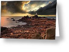 after the storm at La Corbiere Greeting Card by Meirion Matthias