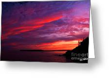 After The Storm Sunset Greeting Card