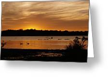 After The Sun Went Below The Horizon Greeting Card