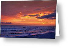 After The Sunset Greeting Card by Sandy Keeton