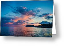 Afterglow On The Lakeshore Greeting Card