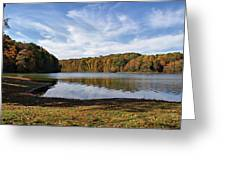 Afternoon At The Lake Greeting Card by Sandy Keeton