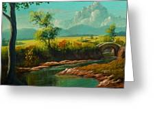 Afternoon By The River With Peaceful Landscape L B Greeting Card