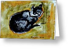 Afternoon Cat Greeting Card