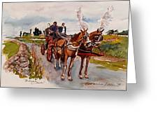 Afternoon Coachride Greeting Card