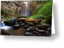 Afternoon Delight At Upper Bridal Veil Falls Greeting Card