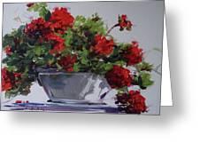 Afternoon Geraniums Greeting Card