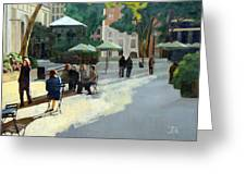 Afternoon In Bryant Park Greeting Card