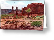 Afternoon In Monument Valley Greeting Card