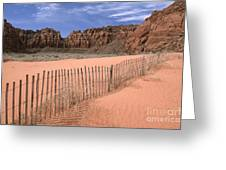 Afternoon In Snow Canyon Greeting Card