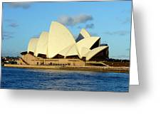 Afternoon Light On The Sydney Opera House Greeting Card