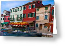 Afternoon Stroll In Murano  Greeting Card