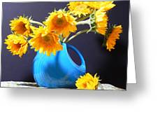 Afternoon Sunflowers Greeting Card