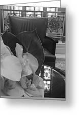 Afternoon Tea At The Waldorf Greeting Card by Tara Miller