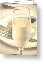 Afternoon Tea With Champagne Greeting Card