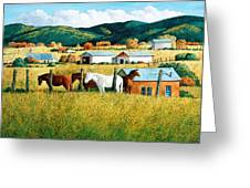 Afternoon Visitors Greeting Card