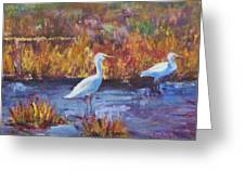 Afternoon Waders Greeting Card