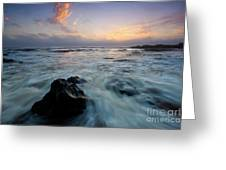 Against The Sea Greeting Card