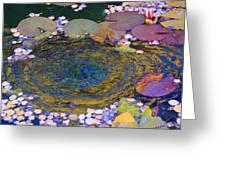 Agape Gardens Autumn Waterfeature Greeting Card