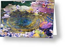 Agape Gardens Autumn Waterfeature II Greeting Card